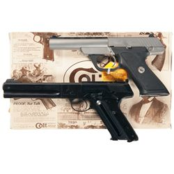 Two Colt Semi-Automatic Pistols -A) Colt 22 Semi-Automatic Pistol with Box