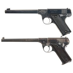 Two 22 LR Pistols -A) High Standard Model B Semi-Automatic Pistol