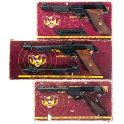 Three Boxed High Standard Semi-Automatic Target Pistols -A) High Standard Olympic Semi-Automatic Pis