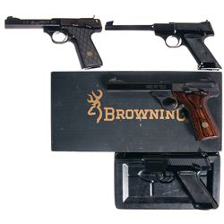 Four Browning Semi-Automatic Pistols -A) Browning Buck Mark Semi-Automatic Pistol