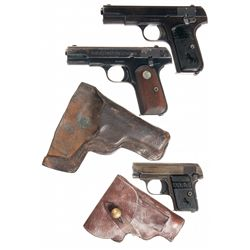 Three Colt Semi-Automatic Pistols -A) Colt Model 1903 Hammerless Semi-Automatic Pocket Pistol