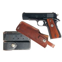 Colt Commander Model Semi-Automatic Pistol with Holster Magazine Pouch and Extra Magazine