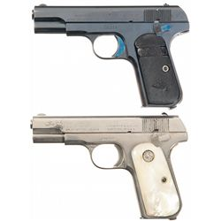 Two Colt 1903 Pocket Hammerless Semi-Automatic Pistols -A) Colt 1903 Pocket Hammerless Semi-Automati