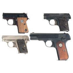 Four Colt Semi-Automatic Pistols -A) Junior Pocket Model Semi-Automatic Pistol
