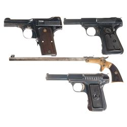 Three Semi-Automatic Pistols and One Pocket Rifle -A) Smith & Wesson .35 Semi-Automatic Pistol