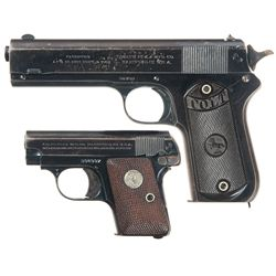 Two Colt Semi-Automatic Pistols -A) Colt Model 1903 Hammer Pocket Semi-Automatic Pistol