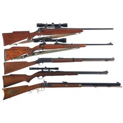 Five Rifles -A) Custom Eddystone Model 1917 Bolt Action Rifle with Scope