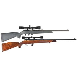 Two Rifles -A) Remington Model 597 Semi-Automatic Rifle with Scope