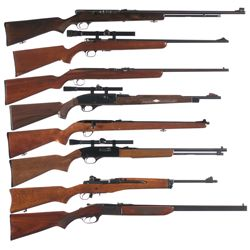 Eight Long Guns -A) Springfield/Stevens Model 87A Semi-Automatic Rifle