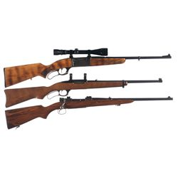Two Rifles and One Carbine -A) Savage Model 99E Lever Action Rifle with Scope