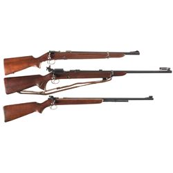 Three Winchester Bolt Action Rifles -A) Winchester Model 52 Bolt Action Target Rifle