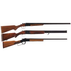 Three Shotguns -A) FIE Model SB Double Barrel Shotgun