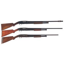 Collector's Lot of Three Winchester Slide Action Shotguns -A) Winchester Model 12 Slide Action Shotg