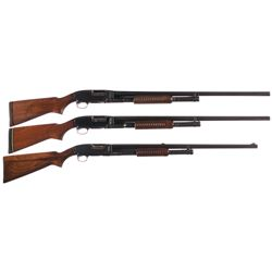 Three Winchester Model 12 Slide Action Shotguns -A) Winchester Model 12 Duck Slide Action Shotgun