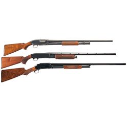 Three Slide Action Shotguns -A) Winchester Model 12 Slide Action Shotgun