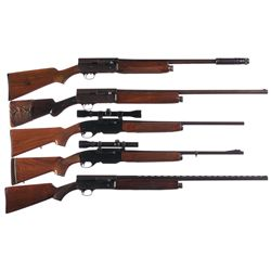 Three Shotguns and Two Rifles -A) Remington Model 11 Semi-Automatic Shotgun