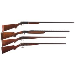 Four Single Shot Shotguns -A) Harrington & Richardson Topper Model 158 Single Shot Shotgun