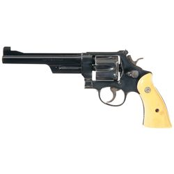 Smith & Wesson N Frame Double Action Revolver with Ivory Grips