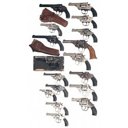 Seventeen Double Action Revolvers -A) Iver Johnson Top Break Double Action Revolver