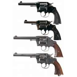 Four Colt Double Action Revolvers -A) Colt New Service Double Action Revolver