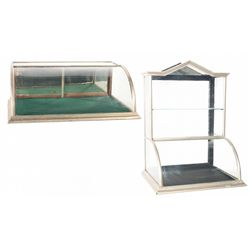 Two Glass Display Cases