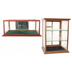 Two Vintage Display Cases