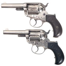 Two Colt Sheriff's Model Lighting 1877 Double Action Revolvers -A) Colt Model 1877 Lighting Double A
