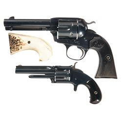 Two Single Action Revolvers -A) Colt Bisley Single Action Revolver