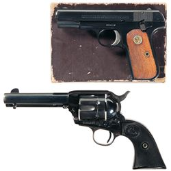Two Colt Hand Guns -A) Colt Model 1903 Pocket Hammerless Semi-Automatic Pistol with Box