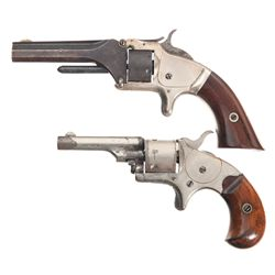 Two Antique Single Action Revolvers -A) Smith & Wesson Model 1 Second Issue Single Action Revolver