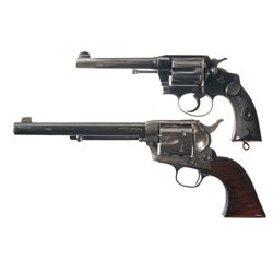 Two Colt Revolvers -A) Police Positive Double Action Revolver