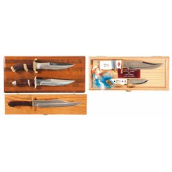 Five Cased Knives