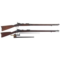 Two U.S. Trapdoor Rifles -A) Springfield Model 1888 Trapdoor Rifle with Ramrod Bayonet