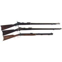 Three Long Guns -A) Springfield Model 1884 Trapdoor Rifle