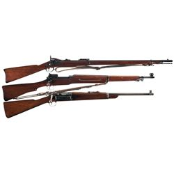 Three U.S. Rifles -A) U.S. Springfield Model 1884 Trapdoor Rifle
