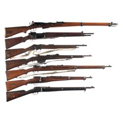 Seven European Military Rifles -A) Swiss Schmidt-Rubin Model 1911 Straight Pull Rifle