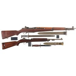 Two Semi-Automatic U.S. Longarms -A) U.S. Springfield M1 Garand Semi-Automatic Rifle with Bayonet