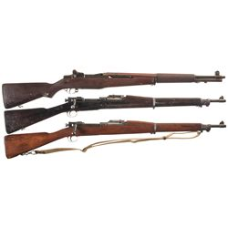 Three U.S. Rifles -A) Springfield M1 Garand Semi-Automatic Rifle