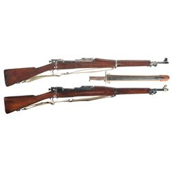 Two U.S. Bolt Action Rifles -A) Rock Island Arsenal Model 1903 Bolt Action Rifle with Bayonet