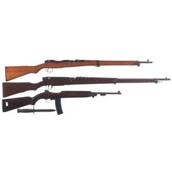 Three Military Longarms -A) Japanese Type 99 Bolt Action Rifle