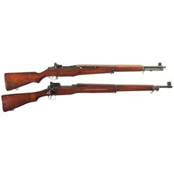 Two U.S. Rifles -A) Springfield M1 Garand Semi-Automatic Rifle