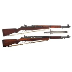 Two U.S. M1 Garand Rifles -A) U.S. Harrington & Richardson M1 Garand Semi-Automatic Rifle