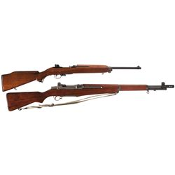 One Rifle and One Carbine -A) Plainsfield M1 Semi-Automatic Carbine