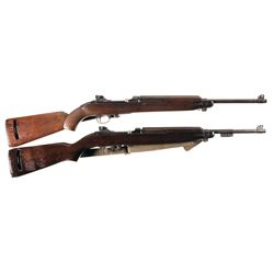 Two U.S. M1 Carbines -A) Inland M1 Semi-Automatic Carbine
