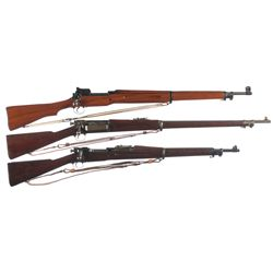 Three U.S. Bolt Action Rifles -A) U.S. Eddystone Model 1917 Bolt Action Rifle