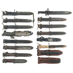 Grouping of Bayonets and Knives