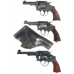 Three Double Action Revolvers -A) Colt Commando Double Action Revolver