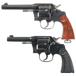 Two Colt Double Action Revolvers -A) Colt U.S. Army Model of 1917 Double Action Revolver