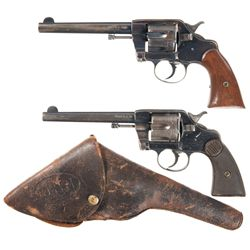 Two Colt Double Action Revolvers -A) U.S. Model 1896 Double Action Revolver
