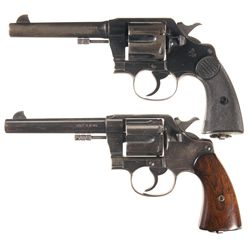 Two Colt Double Action Revolvers -A) Colt New Service Double Action Revolver